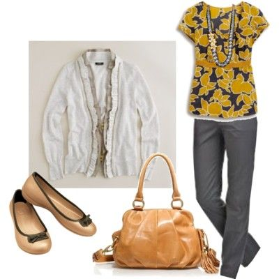 Polyvore Outfits for Full Figures | Scalloped Zipper Cardigan... by dinagideon featuring J Crew cardigans