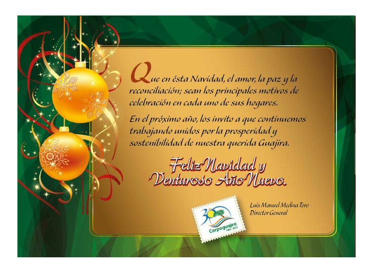 Tarjeta de Navidad de Corpoguajira
