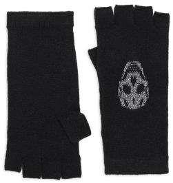 360 Cashmere Xena Skull Cashmere Metallic Gloves