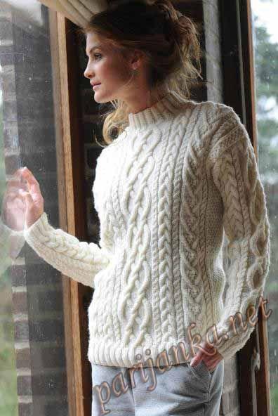 женский пуловер с косами - Поиск в Google