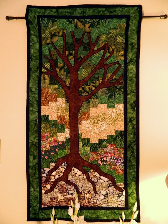 summer the four seasons series quilted wall hanging