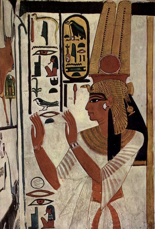 Pintura da Tumba de Nefertari. Vale das Rainhas. # Luxor, Egito.
