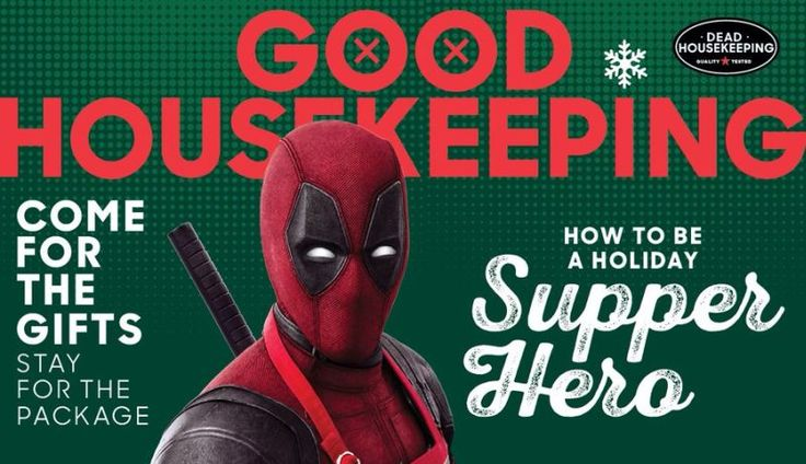 Deadpool 2 Lands on the Cover of Good Housekeeping (Yes Really)   Deadpool 2 lands on the cover of Good Housekeeping (yes really)  Dont bother checking your calendar because it isnt April 1 and though were used to seeing major films make their world debut on magazine covers we here at ComingSoon.net must qualify this as a new one. Deadpool 2 has landed on the cover of Good Housekeeping magazine which you can find in the gallery below.  Deadpools persistence to be in Good Housekeeping was…