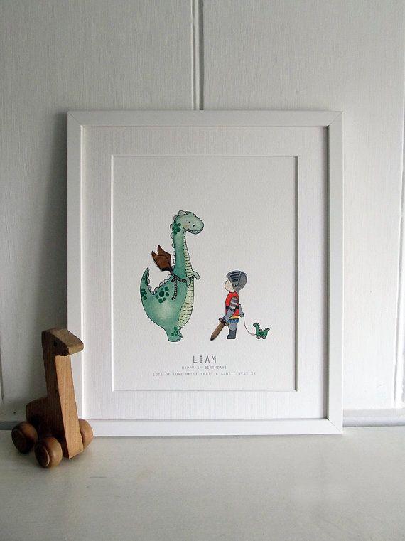 A Dinosaur who wants to be a Dragon  Kids by DaisyandBumpArt, £25.00