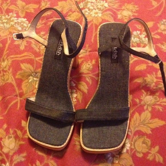 Cute denim heels Satrapy denim heels cute with any sun dress. splash Shoes Heels