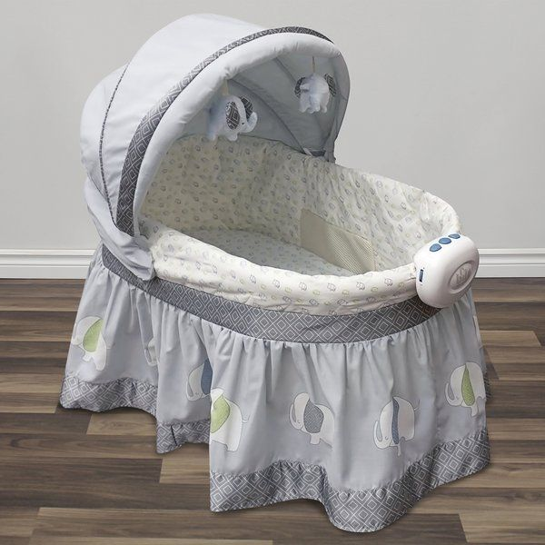 This 2 In 1 Elephant Parade Neutral Bassinet Helps Keep Your