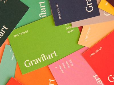 gravitart 'color guide' business cards.