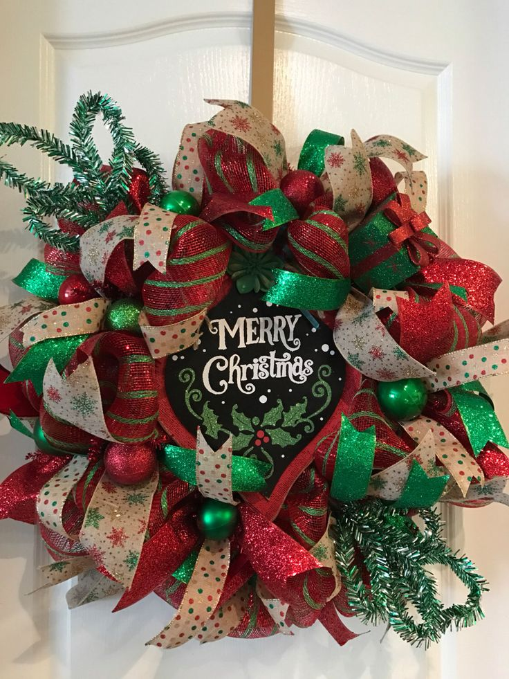 A personal favorite from my Etsy shop https://www.etsy.com/listing/494488503/merry-christmas-wreath-christmas-wreath