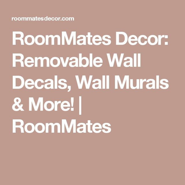 RoomMates Decor: Removable Wall Decals, Wall Murals & More! | RoomMates