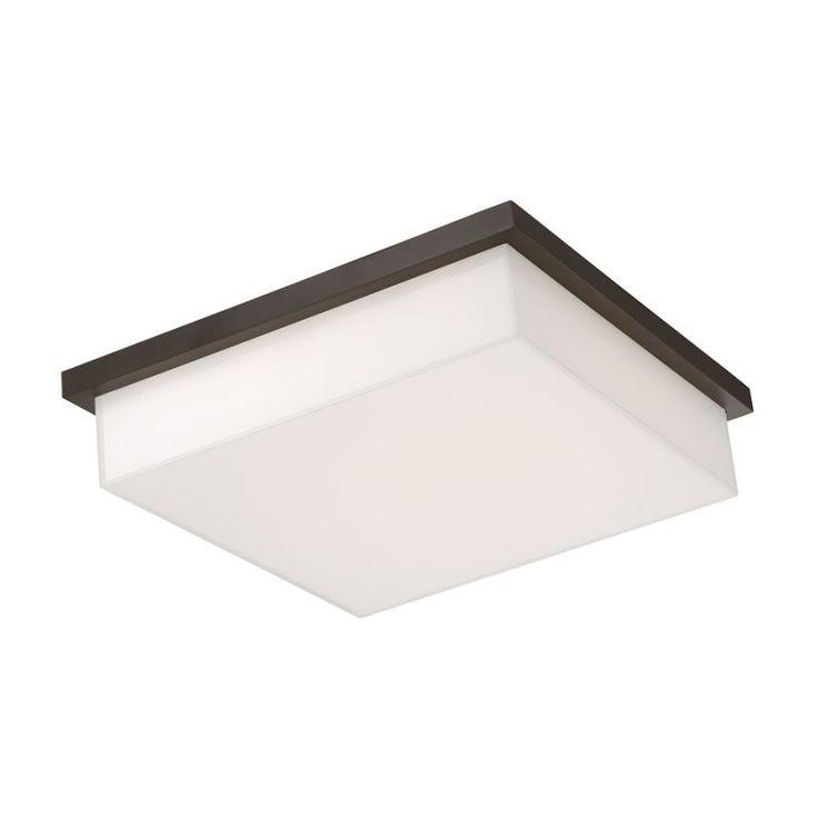 "Modern Forms FM-1414 Ledge 1 Light 14"" Wide LED Outdoor Flush Mount Ceiling Fixt Bronze Outdoor Lighting Ceiling Fixtures Flush Mount"