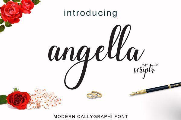 Angella script by cooldesignlab on @creativemarket