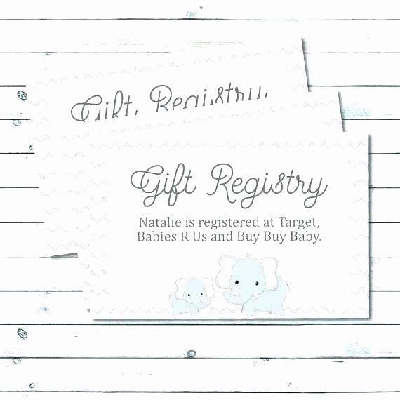 Wedding Registry Card Template Elegant Wedding Registry Announcement Free Invitation Insert Wedding Registry Cards Baby Registry Cards Registry Cards