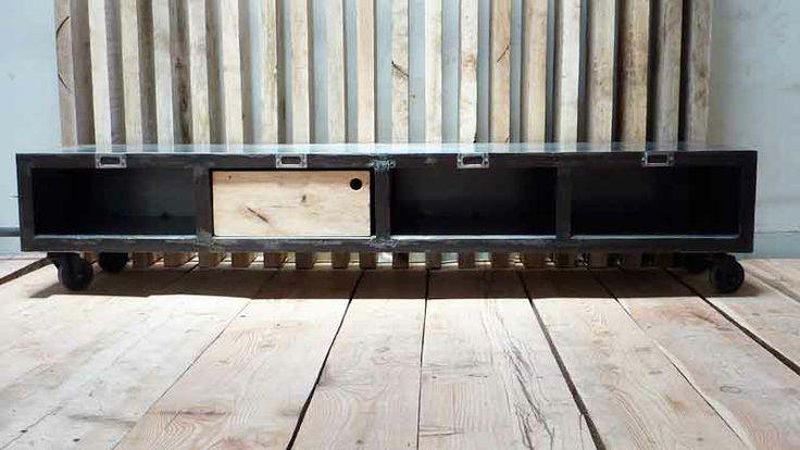 Meuble métal bas BROOKLYN CAB - Midiune - Mobilier industriel et ...