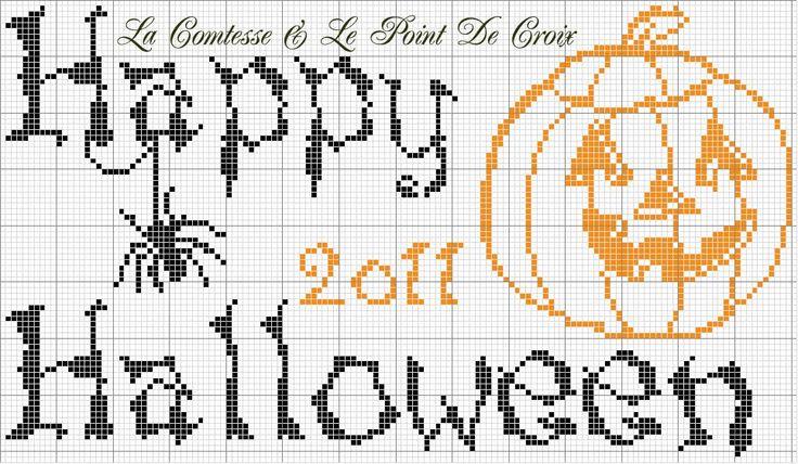 Meer Dan 1000 Afbeeldingen Over Halloween Cross Stitch Op