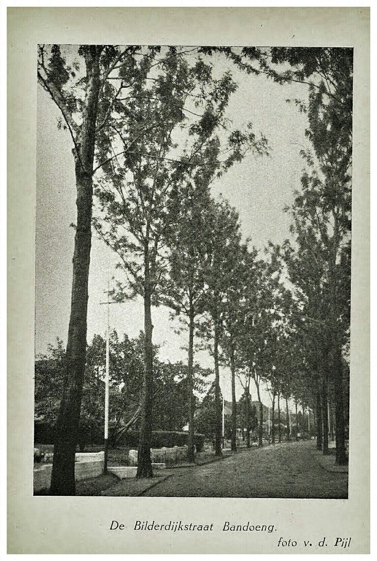 De Bilderdijkstraat Bandoeng 1937. Sekarang Jalan Rangga Malela.
