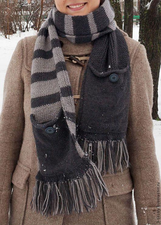 Шарфы, шарф, шарфик, теплый шарф, серый шарф, модный шарф, вязаный шарф, шарфы вязаные, шарфы вязанные, длинный шарф, шарфы длинные.