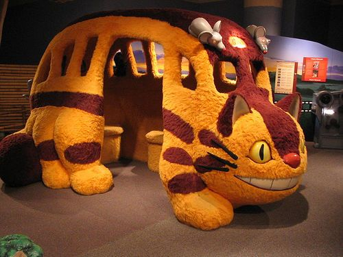 must go to Ghibli museum in Japan for a cat bus ride! Cat-bus!! must go watch Totoro now.