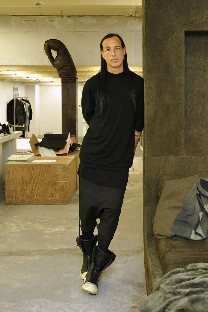 Rick Owens at his Paris headquarters. [Photo by Dominique Maître]