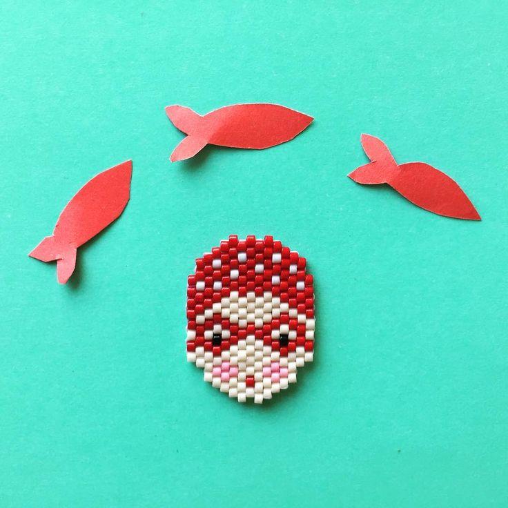 Ma petite nageuse prête pour le plongeon#motifcjuliettecjuju… Plus
