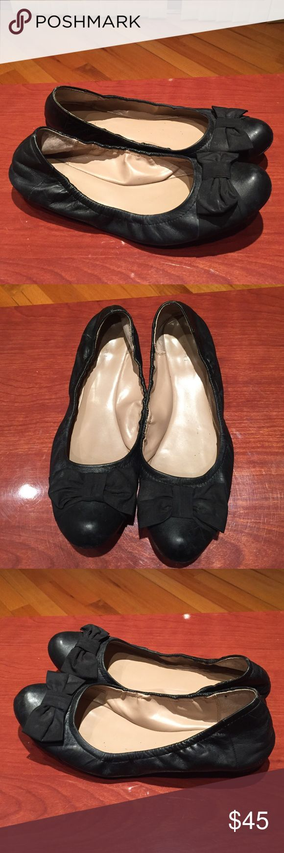 Tahari Villa black leather flats size 10✨ Super comfy flats for everyday, worn several times Tahari Shoes Flats & Loafers