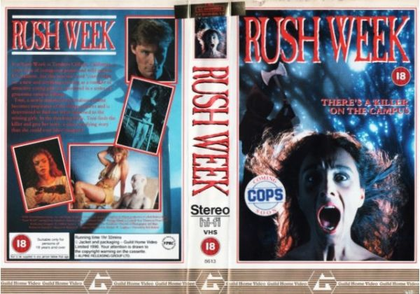 """RUSH WEEK"" (""BOB BRALVER"" - ""PAMELA LUDWIG"" (""PALE BLOOD""), ""ROY THINNES"" & ""GREGG ALLMAN""), '89 - ""NOBLE ENTERTAINMENT GROUP""/""TITAN FILM INTERNATIONAL""), PAL VHS, ""pre-BREXIT era"", ""GUILD HOME VIDEO"" ""#Mira #Aroyo"" #Ladytron ""#Jane #Birkin"" #IRM #mumblecore #Grufti ""#Renault #Nissan"" #Mitsubishi #gothique #EU27 #Erasmus #Brexshit #nostalgie #arthouse #Bohème #indie #MCEG #Multivision  #kunst #erotisch #Ram #Kreeft #Leeuw #Vissen #Aries #Cancer #Leo #Pisces #Mesha #Karka #Leeuw #Vissen"