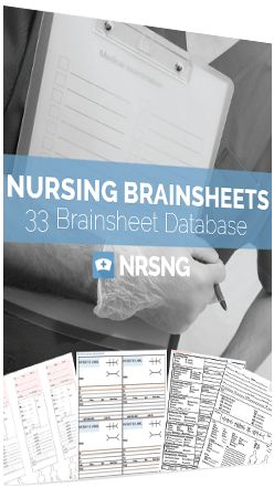 Nursing Brainsheets from NRSNG