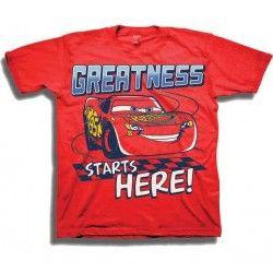 Disney Cars 3 Lightning McQueen Greatness Starts Here Toddler Boys Shirt