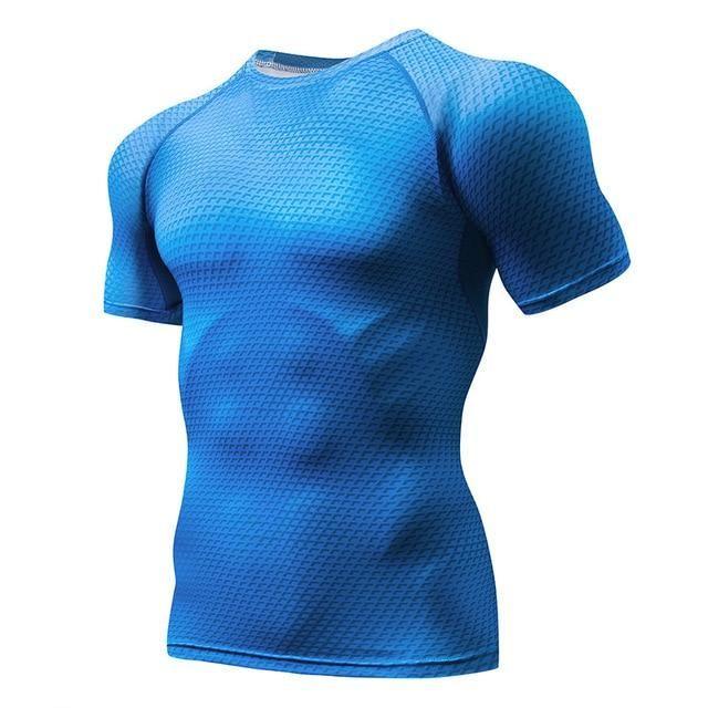 Quick Dry Tank Man'S T-Shirt Gym Fitness Tights Top Soccer Jerseys Running T Shirt Demix Men'S Sportswear Rashgard Male Tee