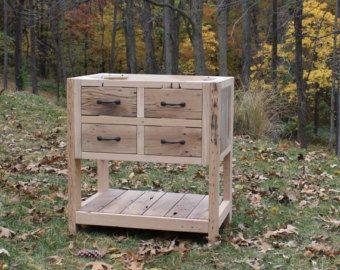 Tocador rústico 75 recuperado granero madera por Keeriah en Etsy