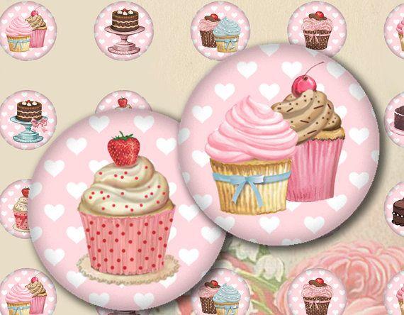 1 inch cupcake circle printables