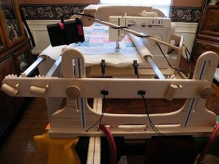 quilting frame for domestic sewing machine