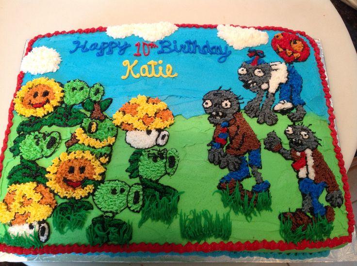 Plants Vz Zombies Cake