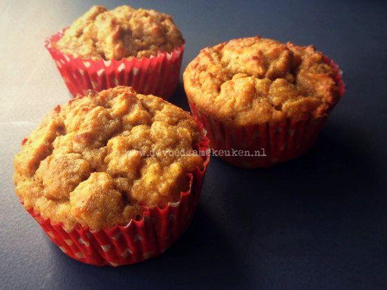 Appelmuffins zonder noten en granen | Heerlijke muffins voor ieder moment van de dag, ook als ontbijt! Roer in een andere kom de droge ingrediënten door elk
