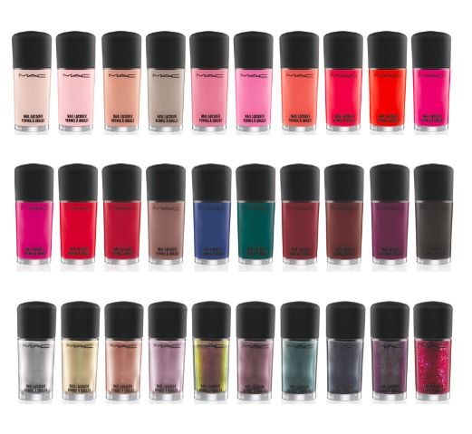MAC nail polish collection {absolutely love the top row}