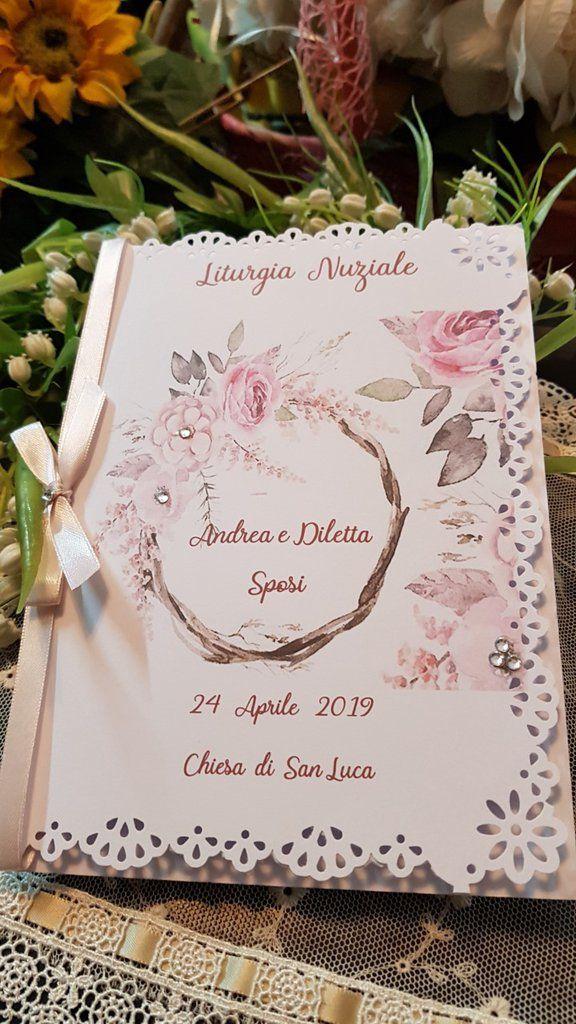Anniversario Di Matrimonio Liturgia.Libretto Messa Matrimonio Matrimonio Decorazioni Matrimonio Fai