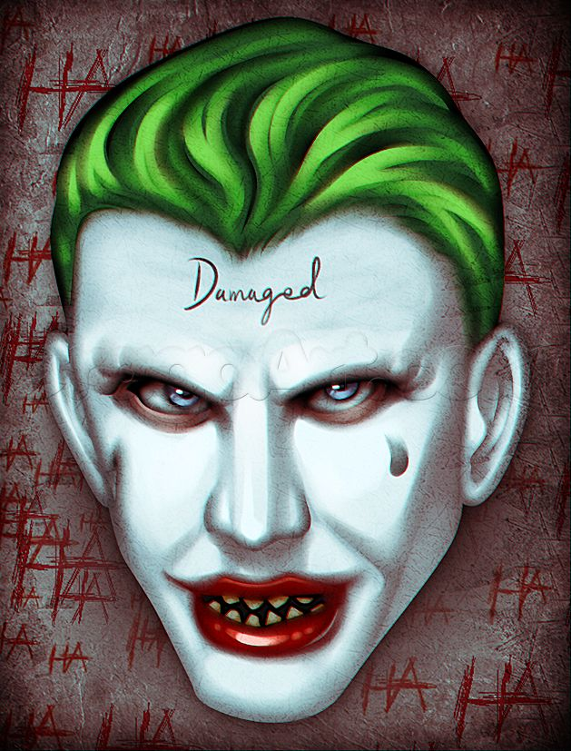 Airbrush Joker Wallpaper: How To Draw Suicide Squad Joker Easy, Step By Step, Dc