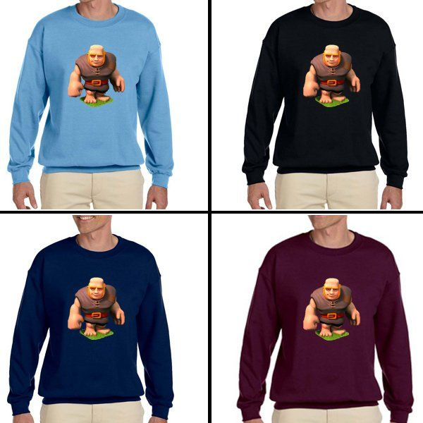 Giant Clash of Clans Unisex Adult sweater Crewneck Sweatshirt