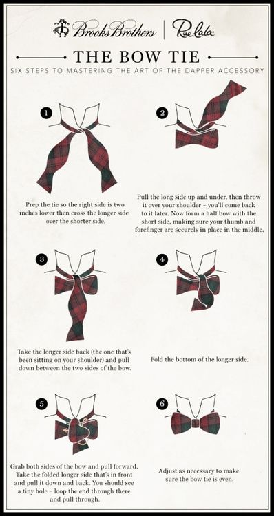 Men's Essentials: How to Tie a Bow Tie. #infographics #menstyle #RMRS #menswear