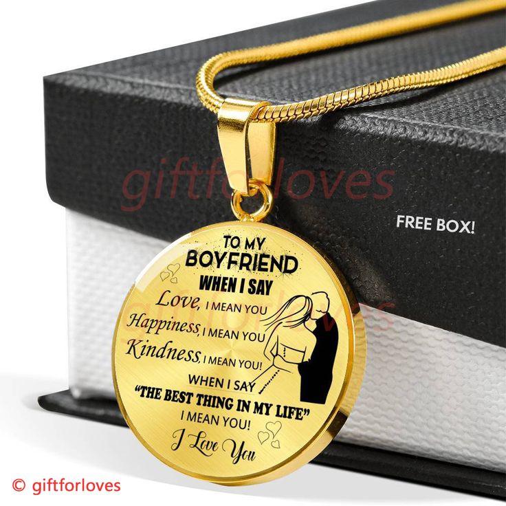 To My Boyfriend Luxury Necklace Best Gift For Boyfriend