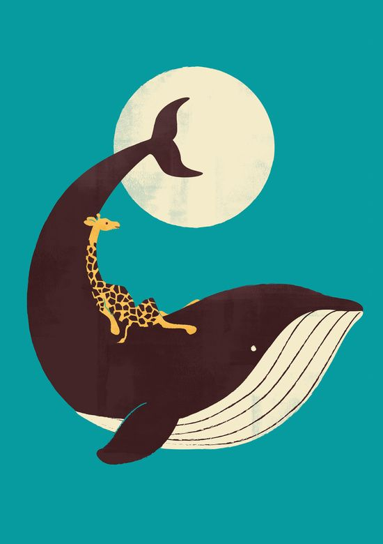 Poster | THE GIRAFFE & THE WHALE von Jay Fleck