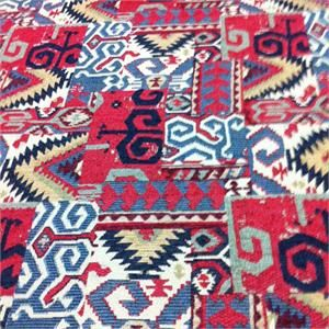 Cactus Flats Red Southwestern Woven Fabric;