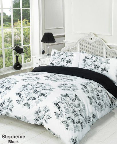 Stephanie Reversible Black and White Butterfly Double Bed Size Duvet Cover Set Viceroybedding http://www.amazon.co.uk/dp/B00DQ4FBV0/ref=cm_sw_r_pi_dp_Waq4tb0MM7MX60JC