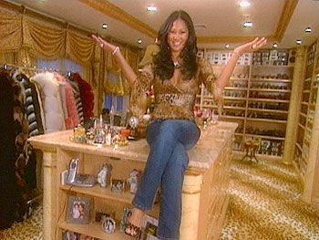 MTV Cribs gave people the opportunity to get a glimpse at the life of a celebrity. They would show their closets which were very large and stocked with designer brands and tons of clothes.