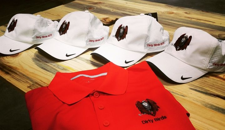 An awesome logo on even better  hats and polo!  Johnny Battle #embroideredlogos #customembroidery #embroideredpolos #Embroideredhats
