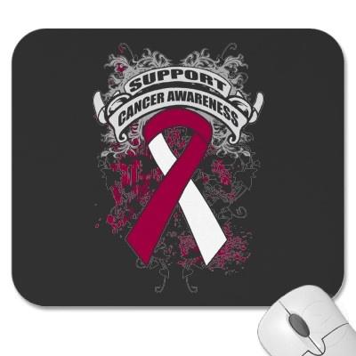 Cancer de la gorge – Slogan Mousepad Mousepad   – Cancer quote