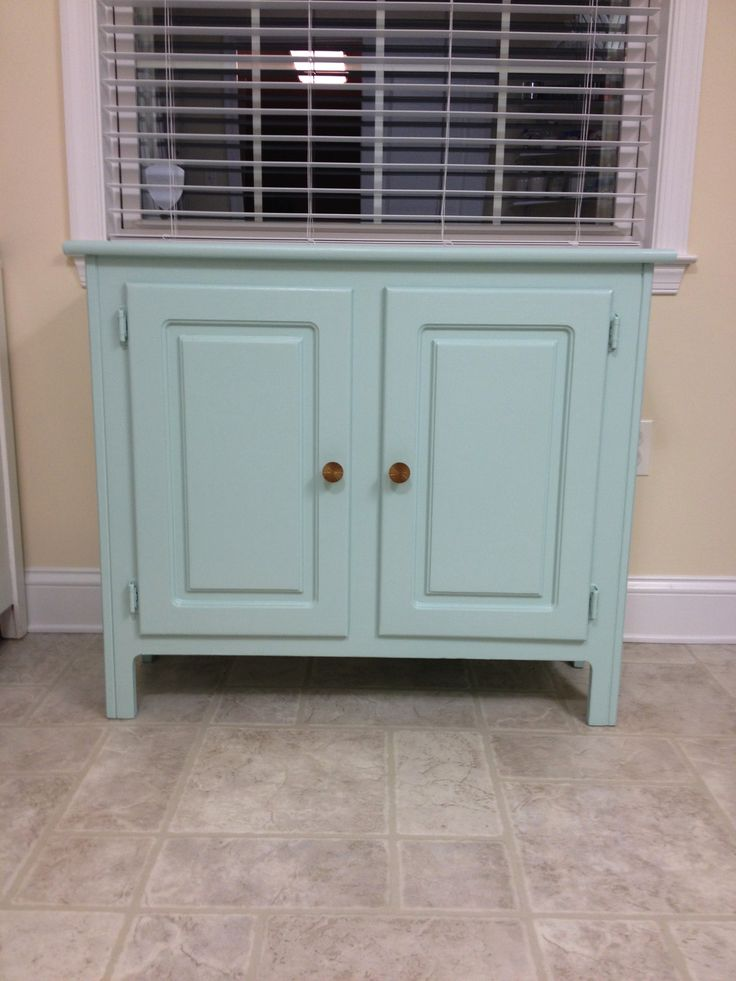 Storage Cabinet: Sherwin Williams Paint Waterscape. This Item Has Been  Sold. See