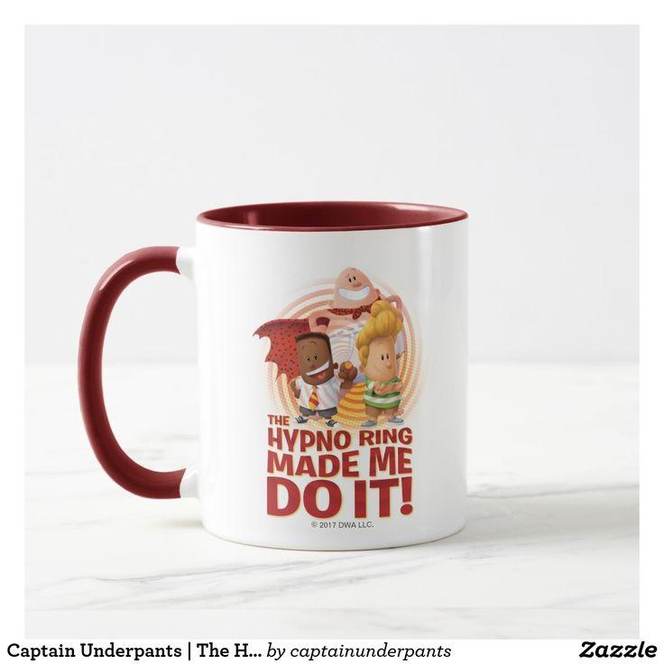 Captain Underpants | The Hypno Ring Made Me Do It. Regalos, Gifts. Producto disponible en tienda Zazzle. Tazón, desayuno, té, café. Product available in Zazzle store. Bowl, breakfast, tea, coffee. #taza #mug