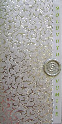 Ref 2 panel EIV Silver ( we can do any colour) www.weddingcards.co.za
