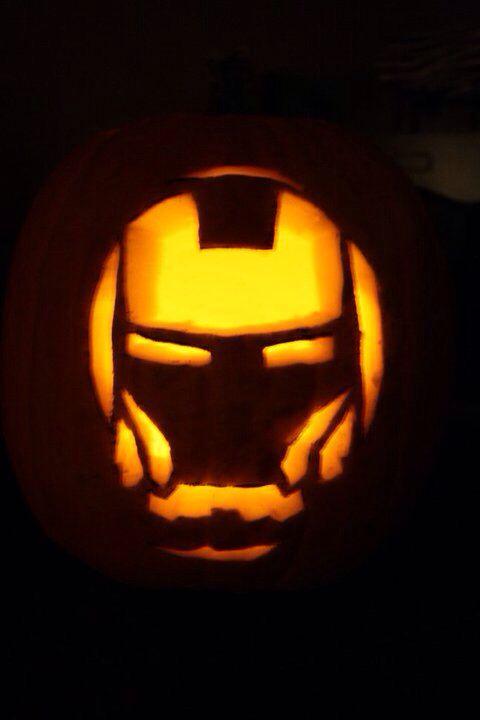 Iron man pumpkin carving | Geeky Gourds: Nerdy Halloween ...
