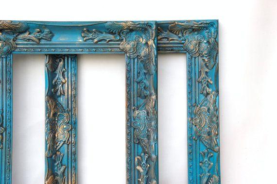 Ornate frames Turquoise blue Picture frames by Lollipopfigurine